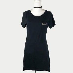 Young Fabulous & Broke Dresses - Young Fabulous & Broke Black Studded T Shirt Dress